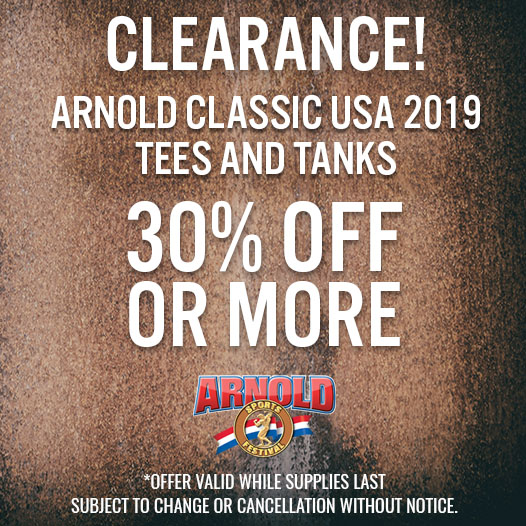 2019 Arnold Classic USA Gear Clearance Sale
